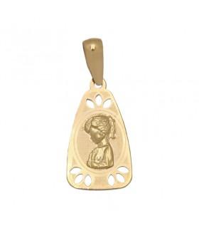 Medalla Virgen Niña Oro 18 K M517