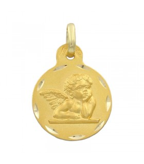 Medalla Angel De La Guarda Oro 18K M545