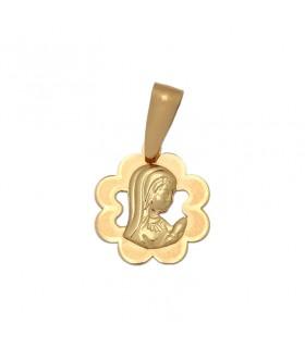 Medalla Virgen Niña Oro 18K M525