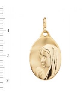 Medalla Virgen Niña Oro 18 K 1-08537-0-8