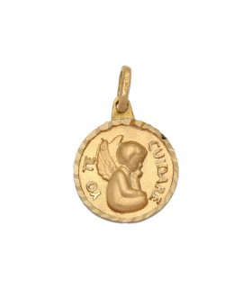 Medalla Angel De La Guarda Oro 18K M978