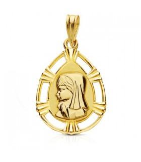 Medalla Virgen Niña Oro 18k M1675