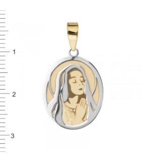 Medalla Virgen Niña Oro Bicolor 18 K 1-08548-0-8