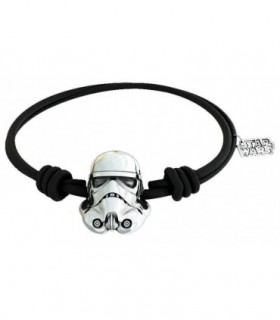PULSERA STAR WARS TROOPER CUERO NEGRO